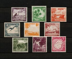 ✔️ (YYBD 032) Nauru 1954 MLH Scott 39 - 47 Ship Birds