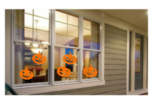 Spooky Halloween vinyl window/ wall decals stickers Pumpkin bats ghosts