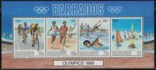Barbados SC730a Souv.Sht.1988 SummerOlympics MNH