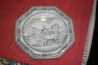 Antique Vintage Adams Ironstone Micratex Dickens Plate-Mr. Micawber-8 Sided