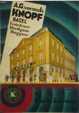 Original Plakat - Knopf Basel - Das Haus für Jedermann