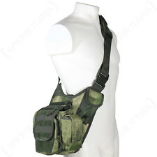Mil-Tacs FG Mimetico Molle spalla Pack Militare Esercito TACTICAL SLING MESSENGER BAG