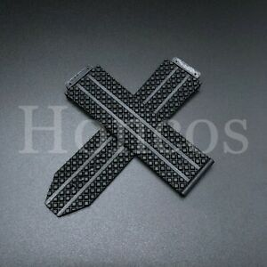 REPLACEMENT 24MM RUBBER BAND STRAP FOR HUBLOT H BIG BANG 44-45MM