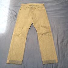 Men's LEVI's 501 Original Fit Straight Leg Jeans ... Beige / 32x36