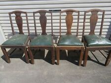 Wooden Chairs x 4 need restoration with removable seats