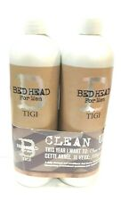 TIGI B for Men Clean Up Shampoo & Conditioner Set 25.36 oz x2 New Fresh