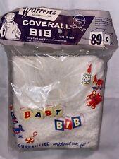 Vintage 1950's Warrren's Coverall Bib Terry Cloth Koroseal Baby