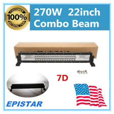 22''inch 270W Tri-Row LED Work Light Bar 7D Spot Flood For Jeep Wrangler SUV 24V