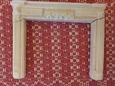 Swedish Fireplace Mantel Parts White Ornate  Doll House Quality