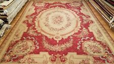10 x 14 French Aubusson Hand Knotted Wool Needle Point Rug