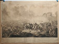 Napoleonic Wars 1801 Battle of Alexandria Panoramic Scene Scarce 1804 Mezzotint