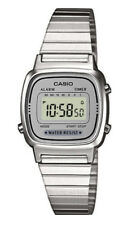 Casio Classic Ladies Grey Dial Silver Plated Digital Watch LA670WEA-7EF. VGRB