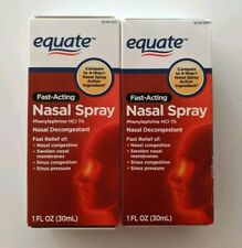 2PK Equate Fast Acting 4-Way Nasal Spray Phenylephrine HCl EXP1/23 SAME-DAY SHIP