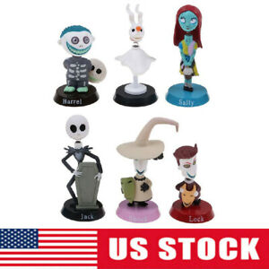 The Nightmare Before Christmas Jack Sally 6pcs Action Figure Kids Toy Doll Gift