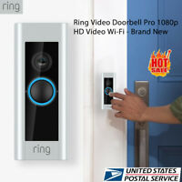 New Ring Pro Video Doorbell HD Video 1080P Works With Alexa, Night Vesion,Wired
