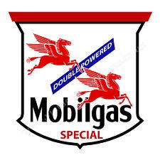 "Mobilgas Special doble con tecnología digitalmente Cortar Pegatina de vinilo. tamaño de 3"" X 3"""