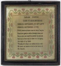 Sampler cross stitch embroidery 'The Monarch' Dunchideock Sarah Mudge 1811
