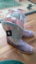 Blazin Roxx Cowboy Boots girl sz 5 Western Youth Pink Silver camo 4474230