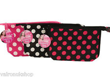 RETRO POLKA DOT COSMETIC TOILETRY BAG IDEAL TRAVEL HOLDIAY OR HOME USE