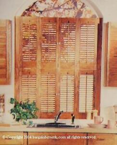 NEW IN BOX ABITIBI NO. 724 SMALL WINDOW PINE WOOD 4 PANEL SHUTTER KIT CG181