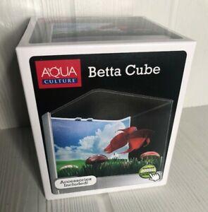 Beta Cube Starter Fish Aquarium with Accessories NIB New Aqua Culture