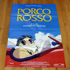 PORCO ROSSO manifesto poster Miyazaki Animazione Studio Ghibli Aviatore Aereo