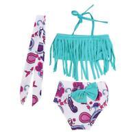 Newborn Kids Baby Girls Bikini Set Swimsuit Swimwear Tankini Beachwear Clothes