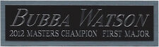 BUBBA WATSON NAMEPLATE FOR AUTOGRAPHED Signed PGA GOLF CLUB-BAG-PHOTO-FLAG-PIN