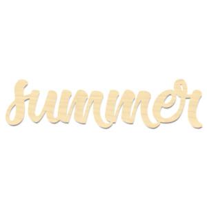 Summer Sign-Laser Cut Summer Wording-Wood Summer Wording