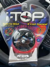 Handheld Battery Electronic Game I-Top Spin To Win 4 Games LED Light Up