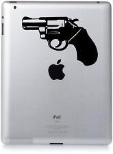 Novelty Hand Gun Revolver Snub Nose Style  Sticker Vinyl decal/ iPad/ laptop