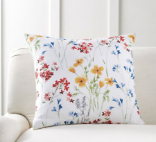 NWT Pottery Barn Maggie Floral Print Pillow Cover Sham Euro, 24""