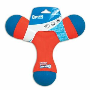 Chuckit TRI BUMPER Dog Fetch Toy Medium Boomerang Choose to Tug Toss or Bounce