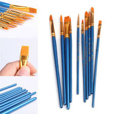 10X Paint Brush Set, Watercolor Oil, Body, Face, Craft Art Painting Wood Handle