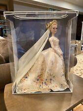 "DISNEY WEDDING PLATINUM LIVE Action CINDERELLA 17"" LE 500 LIMITED EDITION DOLL"