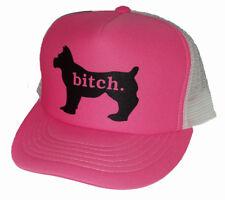 Bitch Dog Snapback Mesh Trucker Hat Cap Pink Lady Girl Female