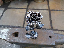 Rose sculpture Metal sculpture 6th wedding gift blacksmith Metal rose Steel rose