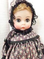 "Madame Alexander Doll 8"" Brown Print Dress w Peticoat Pantiloon Hat Shoes & Tags"