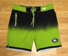 BAD BOY Hi Tide Hybrid Board Shorts Black Green Size 32