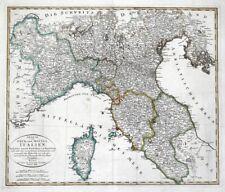 ITALY NORTH, CORSICA Gaspari original hand coloured antique map 1806