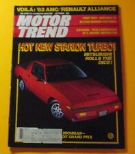 MOTOR TREND MAGAZINE SEPT/1982..HOT NEW STARION TURBO: MITSUBISHI ROLLS THE DICE