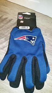 NFL New England Patriots Adult Sport Utility Gloves - One Pair Dark Blue Logo