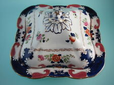Antique Booth's Silicon China Hand Painted Regal Pattern Covered Serving Dishes