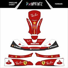 FREELINE CADET FERRARI FULL KART STICKER KIT KARTING  -CADET-ROOKIE