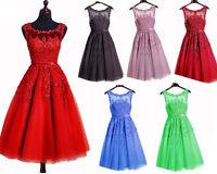 New Short Chiffon Bridesmaid Prom Dress Wedding Evening Formal Party Ball Gown