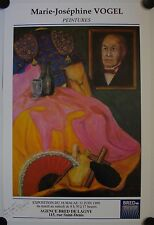 Affiche MARIE-JOSEPHINE VOGEL 1990 Exposition