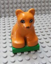 LEGO Medium Orange Duplo Jaguar Cub on Base (Dora the Explorer)