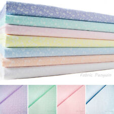 Floral Fabric Leaf Leaves Print Ditsy Vintage Pastel Green Pink Blue Metre Ivy