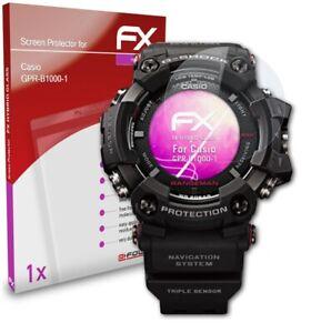 atFoliX Pellicola Vetro per Casio GPR-B1000-1 9H Armatura di protezione