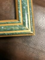 """16X20 Picture Frame with Green With Gold Flakes And Gold Border 21.5 X 17.5"""""""